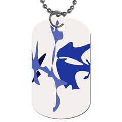 Blue amoeba abstract Dog Tag (Two Sides)