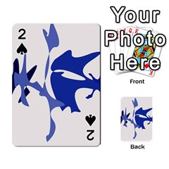 Blue amoeba abstract Playing Cards 54 Designs
