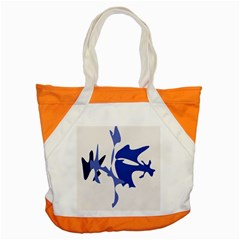 Blue amoeba abstract Accent Tote Bag