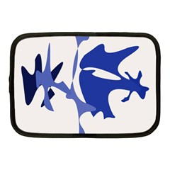 Blue amoeba abstract Netbook Case (Medium)