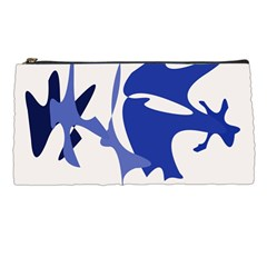 Blue amoeba abstract Pencil Cases