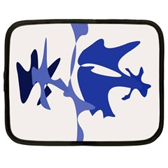 Blue amoeba abstract Netbook Case (XL)