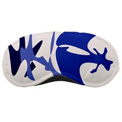 Blue amoeba abstract Sleeping Masks
