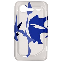 Blue amoeba abstract HTC Incredible S Hardshell Case