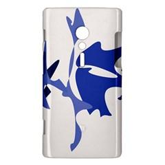 Blue amoeba abstract Sony Xperia ion