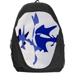 Blue amoeba abstract Backpack Bag