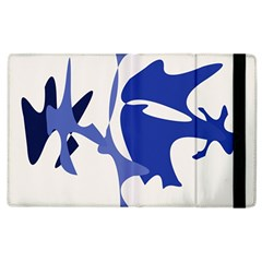 Blue amoeba abstract Apple iPad 3/4 Flip Case