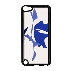 Blue amoeba abstract Apple iPod Touch 5 Case (Black)