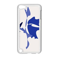 Blue amoeba abstract Apple iPod Touch 5 Case (White)