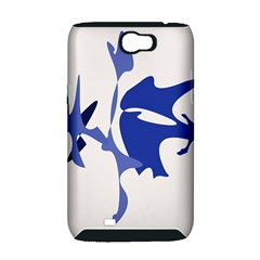 Blue amoeba abstract Samsung Galaxy Note 2 Hardshell Case (PC+Silicone)