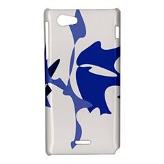 Blue amoeba abstract Sony Xperia J