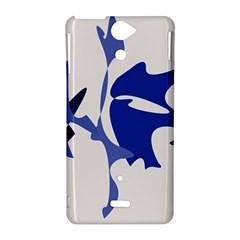 Blue amoeba abstract Sony Xperia V