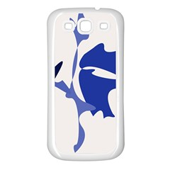 Blue amoeba abstract Samsung Galaxy S3 Back Case (White)