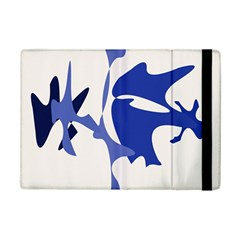 Blue amoeba abstract iPad Mini 2 Flip Cases