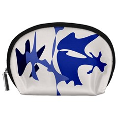 Blue amoeba abstract Accessory Pouches (Large)