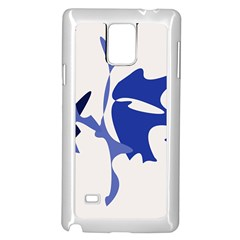 Blue amoeba abstract Samsung Galaxy Note 4 Case (White)