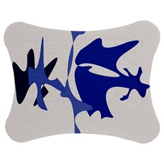 Blue amoeba abstract Jigsaw Puzzle Photo Stand (Bow)