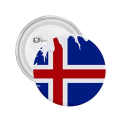 Iceland Flag Map 2.25  Buttons