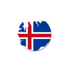 Iceland Flag Map Golf Ball Marker (4 pack)