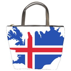 Iceland Flag Map Bucket Bags
