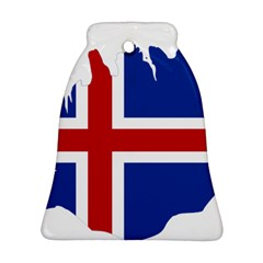 Iceland Flag Map Bell Ornament (2 Sides)
