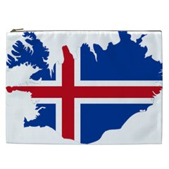 Iceland Flag Map Cosmetic Bag (XXL)