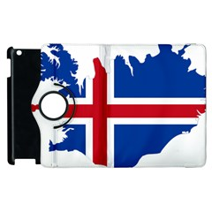 Iceland Flag Map Apple iPad 2 Flip 360 Case