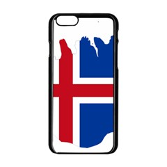 Iceland Flag Map Apple iPhone 6/6S Black Enamel Case