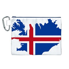 Iceland Flag Map Canvas Cosmetic Bag (L)