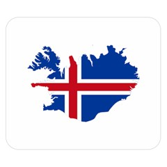 Iceland Flag Map Double Sided Flano Blanket (Small)