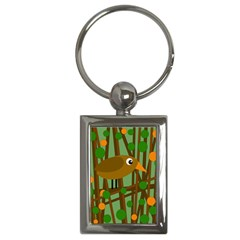 Brown bird Key Chains (Rectangle)