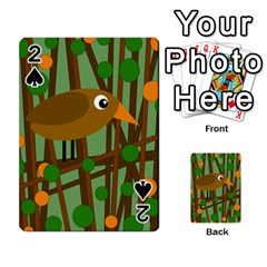Brown bird Playing Cards 54 Designs