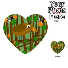 Brown bird Playing Cards 54 (Heart)