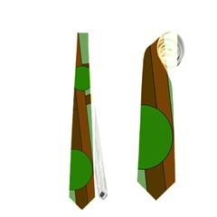 Brown bird Neckties (One Side)