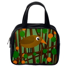 Brown bird Classic Handbags (One Side)