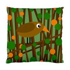Brown bird Standard Cushion Case (Two Sides)