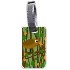 Brown bird Luggage Tags (One Side)