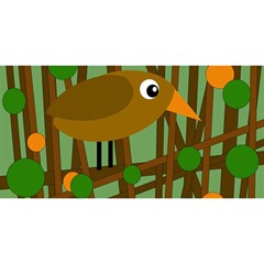 Brown bird YOU ARE INVITED 3D Greeting Card (8x4)