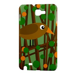 Brown bird Samsung Galaxy Note 1 Hardshell Case
