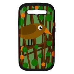 Brown bird Samsung Galaxy S III Hardshell Case (PC+Silicone)