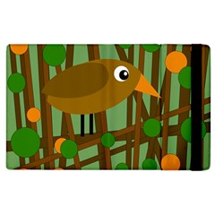 Brown bird Apple iPad 2 Flip Case