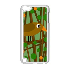 Brown bird Apple iPod Touch 5 Case (White)