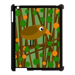 Brown bird Apple iPad 3/4 Case (Black)