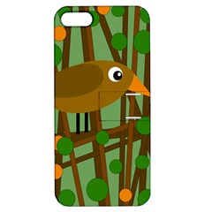 Brown bird Apple iPhone 5 Hardshell Case with Stand
