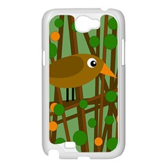 Brown bird Samsung Galaxy Note 2 Case (White)