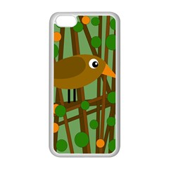 Brown bird Apple iPhone 5C Seamless Case (White)