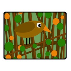 Brown bird Double Sided Fleece Blanket (Small)