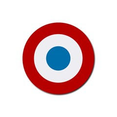 Roundel of the French Air Force  Rubber Round Coaster (4 pack)
