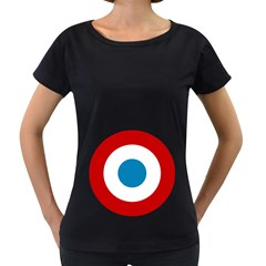 Roundel of the French Air Force  Women s Loose-Fit T-Shirt (Black)