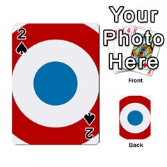 Roundel of the French Air Force  Playing Cards 54 Designs
